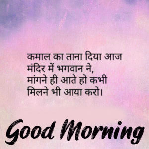 Lovely Beautiful Good Morning quotes in hindi Images photo Download