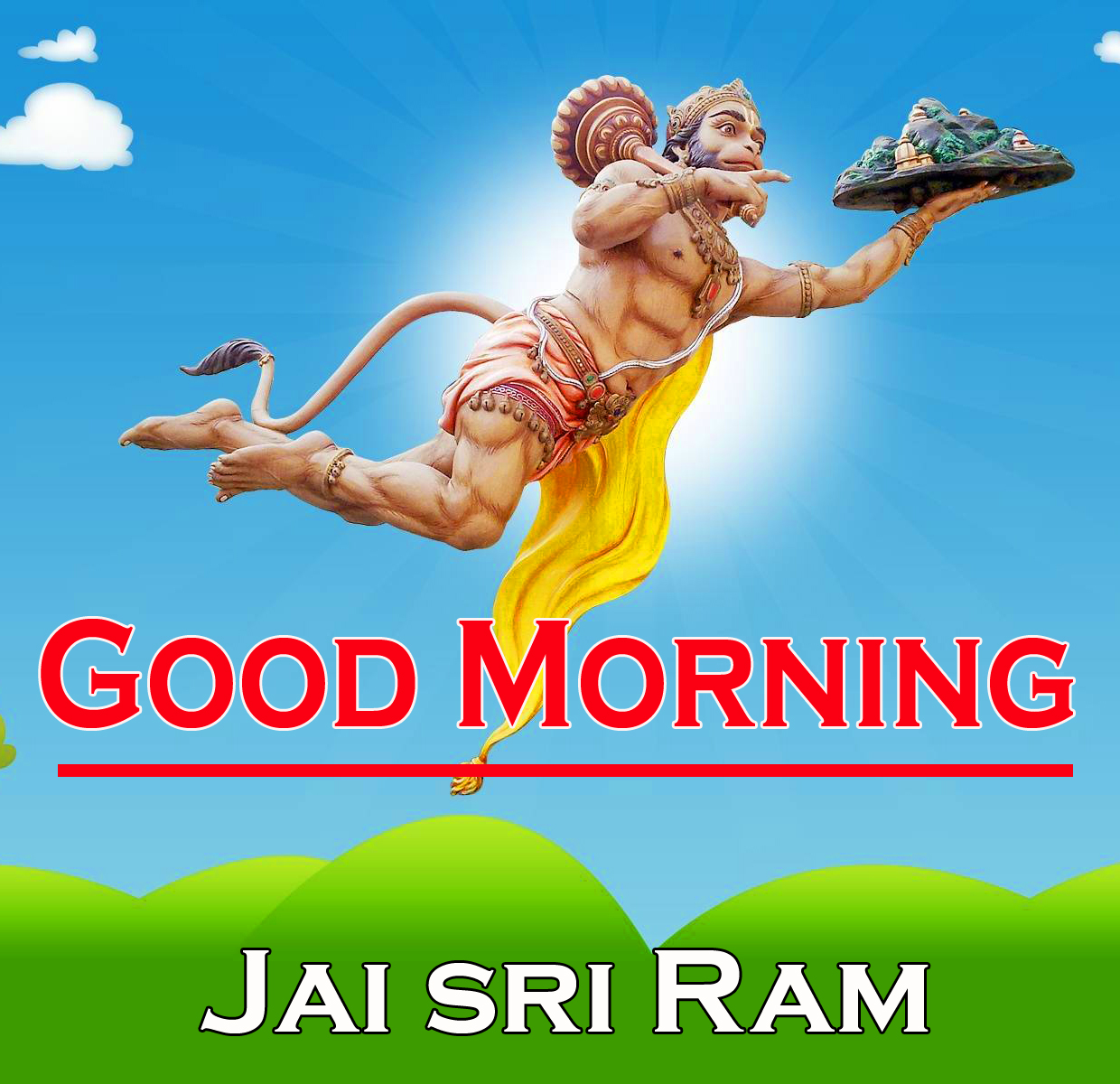 Hanuman Ji Good Morning Images Pics Wallpaper for Whatsapp / Facebook