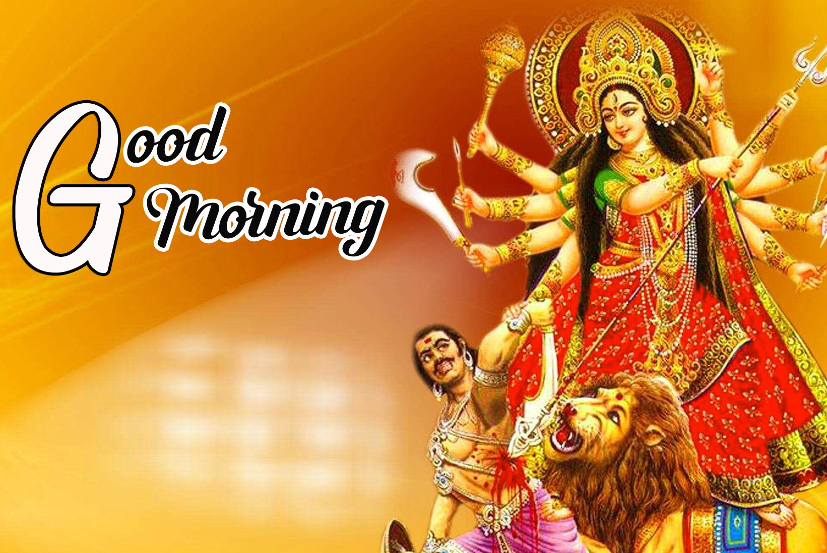 Best Sweet 1080p Good Morning Images Pics Wallpaper With Maa Durga