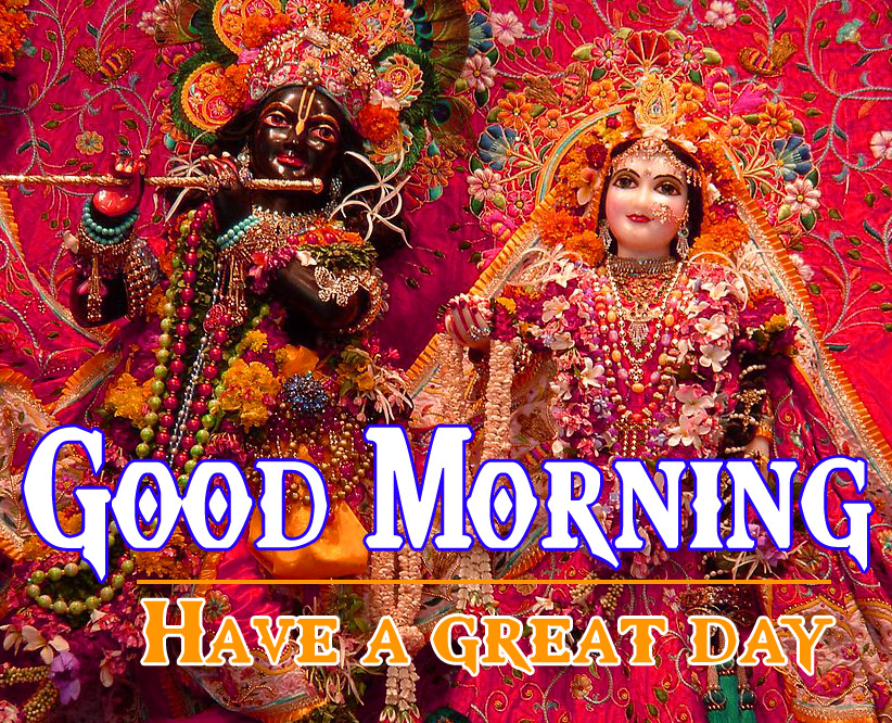 Radha krishna Good Mornign