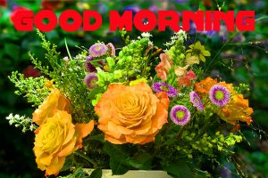 Good Morning Images Wallpaper Pic With yellow Flower