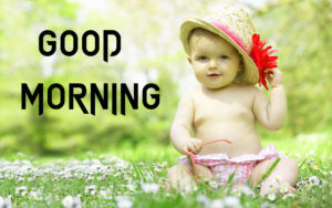 Cute Baby Good Morning Images pictures photo hd download