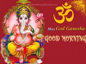 Hindi Quotes Ganesha Good morning Images Photo Pictures Free HD