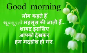 Lovely Beautiful Good Morning quotes in hindi Images Wallpaper Pics HD Download