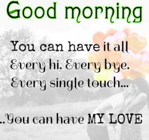 Sweet Romantic Good Morning Quotes For Him In Hindi Images HD