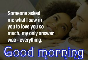 Sweet Romantic Good Morning Quotes For Him In Hindi Images Photo Pics Free Download
