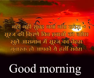 Lovely Beautiful Good Morning quotes in hindi Images Wallpaper Pics Download For Facebook