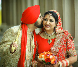 Sweet Punjabi Married Love Wedding couple images pictures photo free download