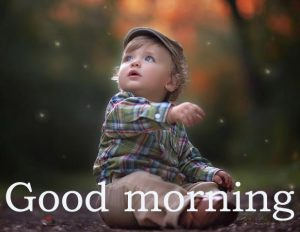 Sweet Cute Child kid good morning images Wallpaper Photo Free Download