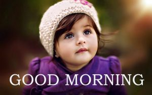 Sweet Cute Child kid good morning images Wallpaper Photo HD