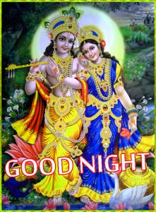 Radha Krishna Hindu God Religious good night images Wallpaper Pics HD Download