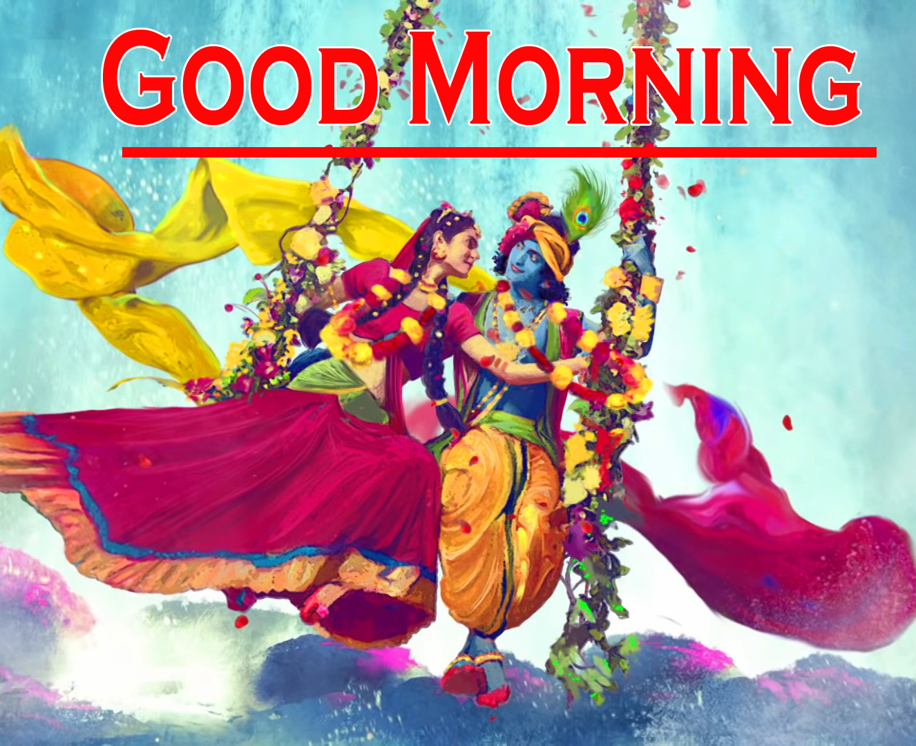 Radha Krishna Good Morning Images 2
