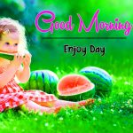 Flower Good Moning Wishes Images With Cute Baby