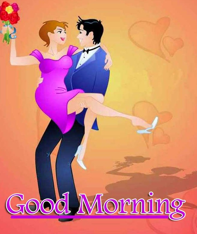Best Sweet Romantic Love Couple Good Morning Wishes Images Wallpaper Free Download
